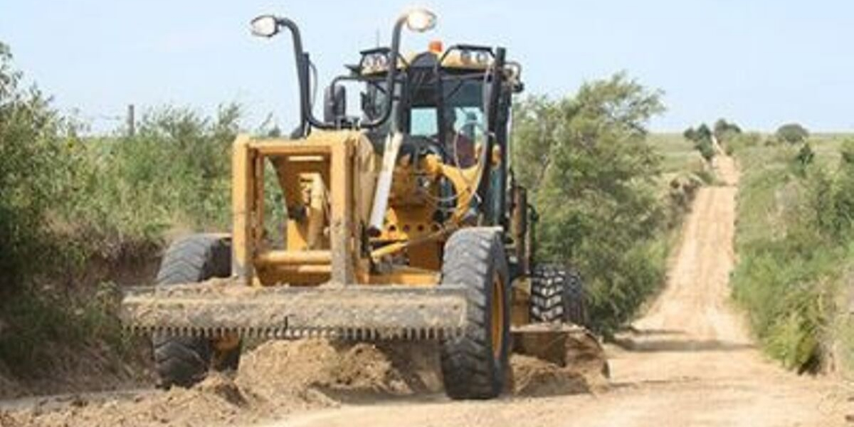 Front-loader on a dirt road