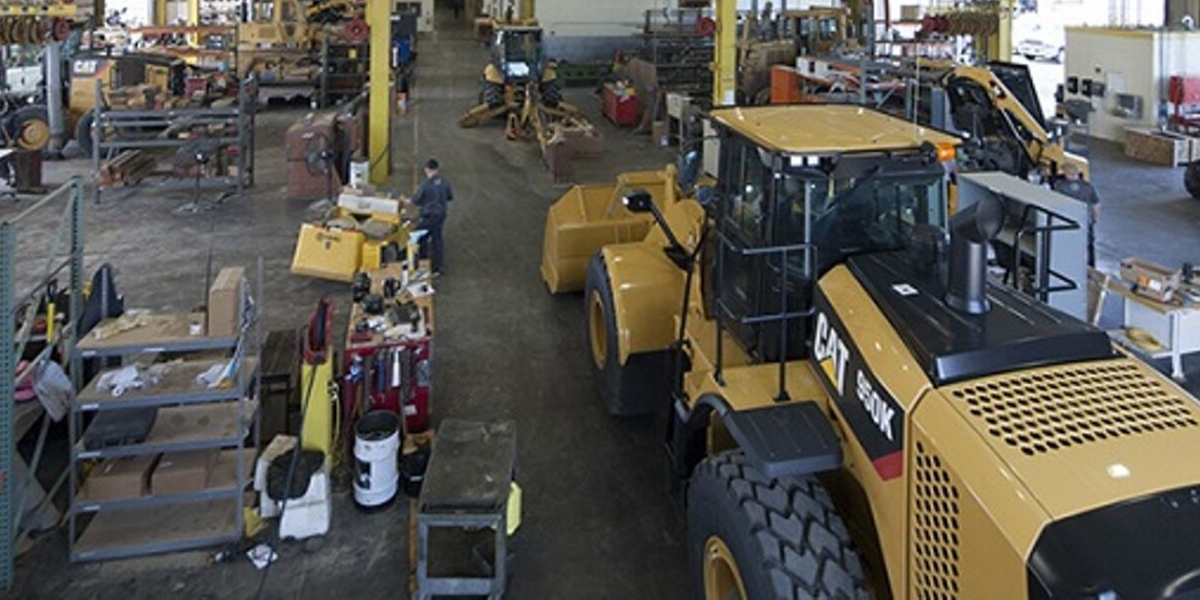CAT 950K Bulldozer in shop