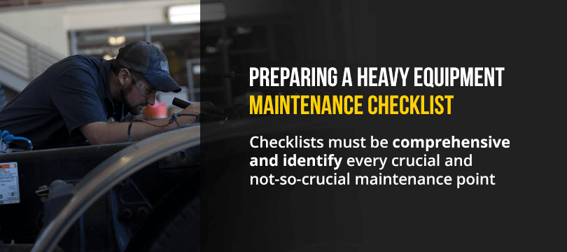 Heavy Equipment Maintenance Checklist