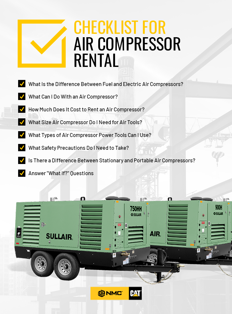 Checklist for Air Compressor Rental