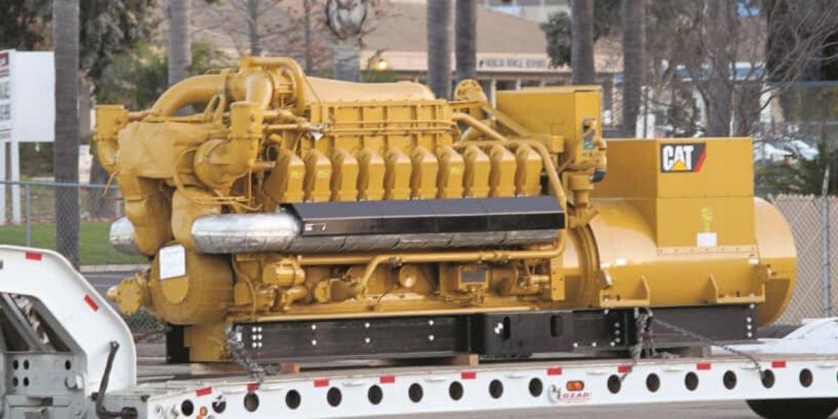 Black start diesel generator on truck