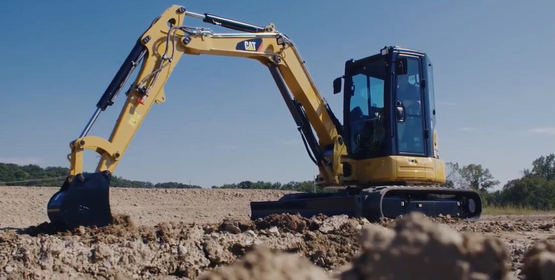 Machine warm up tips. Image of Excavator