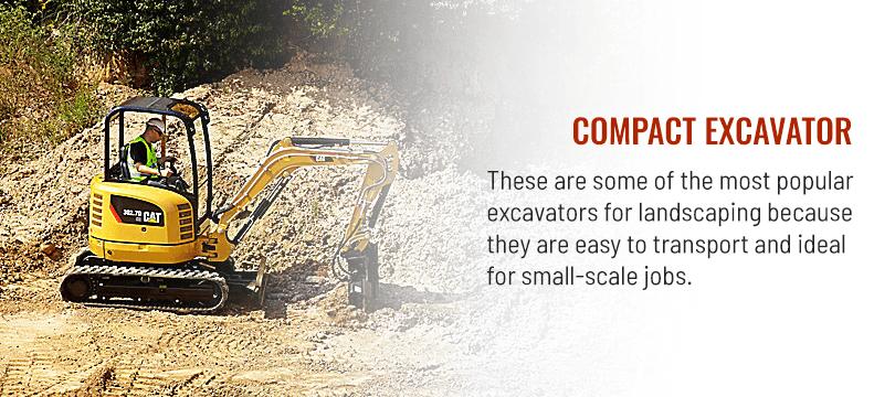 Compact Excavator Landscaping Equipment