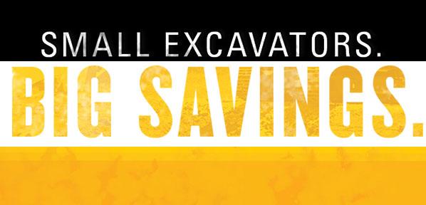 GCI Small Excavator Finance Offer