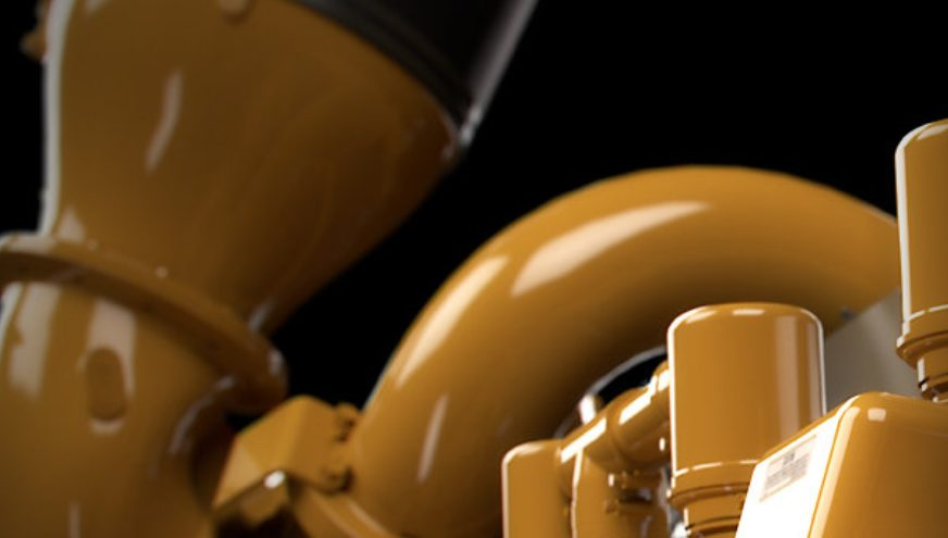 yellow industrial engine