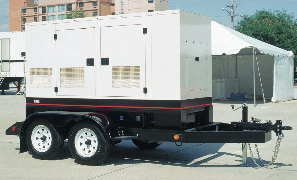 White CAT mobile generator set