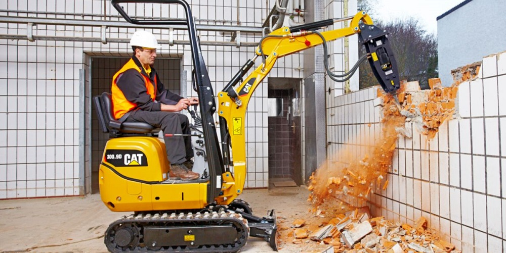 Mini excavator used for home demo