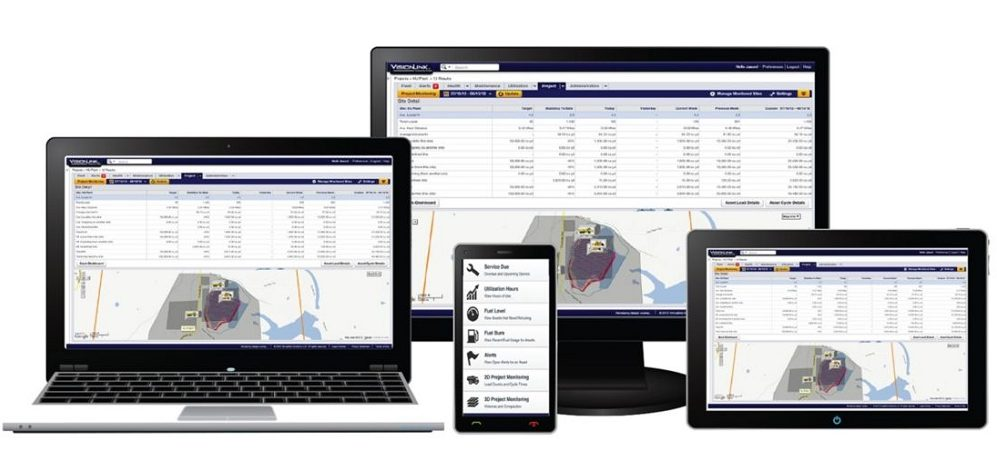 Visionlink Fleet Managment Software on Multiple devices